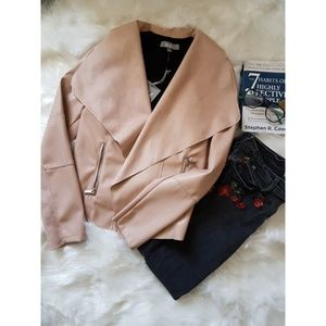 Bagatelle Faux Leather Light Jacket.